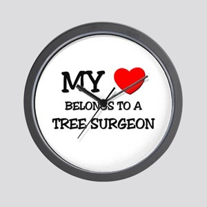 My Heart Belongs To A TREE SURGEON Wall Clock