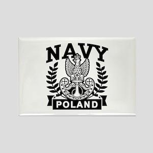 Polish Navy Rectangle Magnet