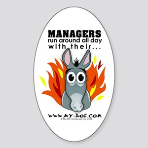 Managers Oval Sticker