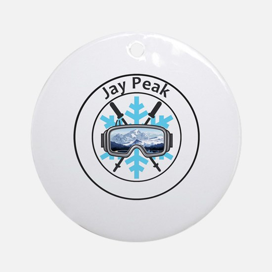 Cute Jay Round Ornament