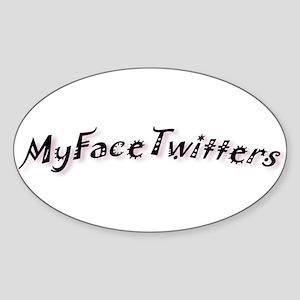 MyFaceTwitters2 Oval Sticker