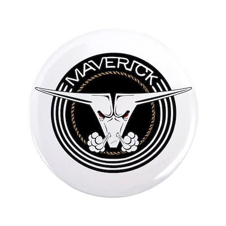"Maverick Head 3.5"" Button"