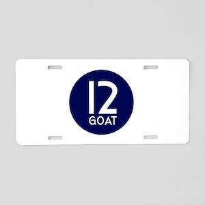 GOAT 12 Aluminum License Plate