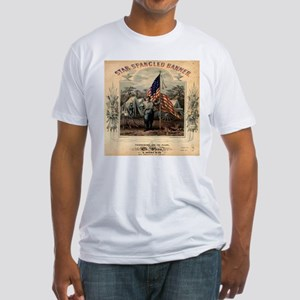 Star-Spangled Banner Sheet Music Fitted T-Shirt
