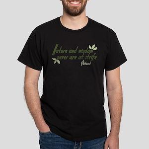 Nature and Wisdom Quote Dark T-Shirt