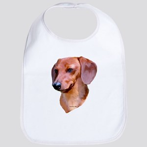 red dachshund Bib