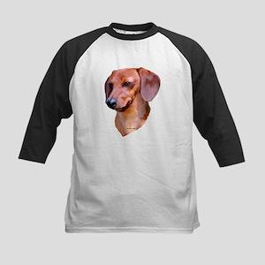 red dachshund Kids Baseball Jersey