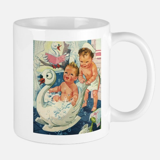 Vintage Swan Bathtub Mug