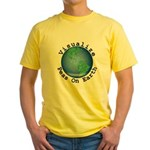 Visualize Peas On Earth Yellow T-Shirt