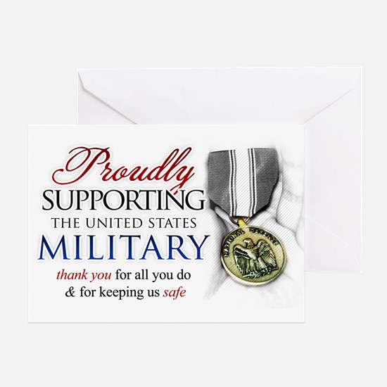 Proudly Supporting (Military) Greeting Card