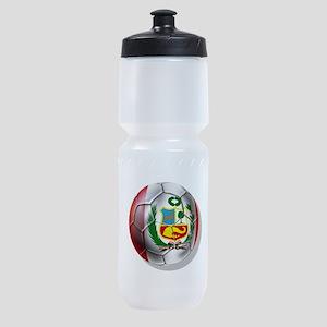 Peru Soccer Ball Sports Bottle