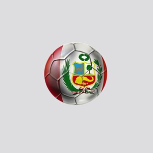 Peru Soccer Ball Mini Button