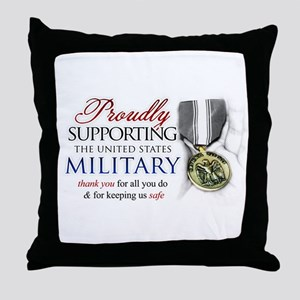 Proudly Supporting (Military) Throw Pillow