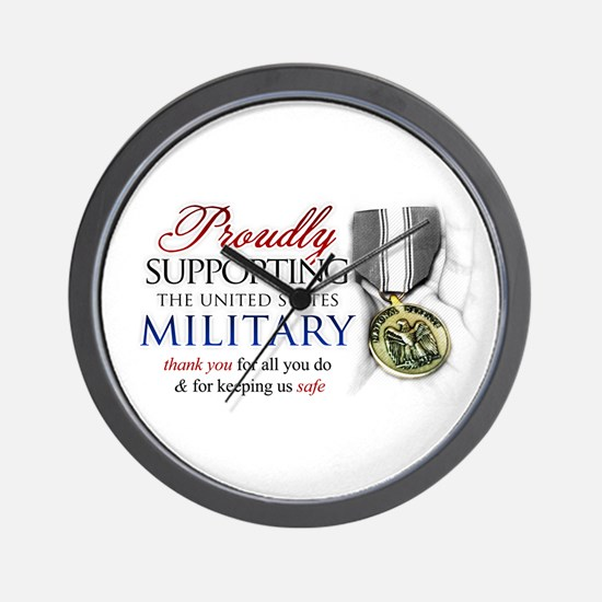 Proudly Supporting (Military) Wall Clock