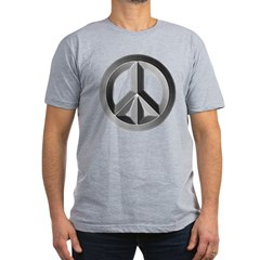 Silver Peace Symbol Men's Fitted T-Shirt (dark)