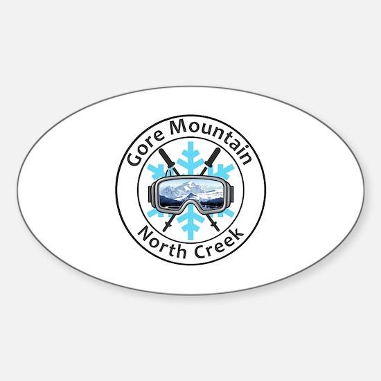 Cute Mountain creek Sticker (Oval)