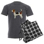 Beagle Men's Charcoal Pajamas