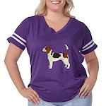 Beagle Women's Plus Size Football T-Shirt