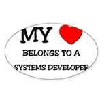 My Heart Belongs To A SYSTEMS DEVELOPER Sticker (O