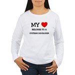 My Heart Belongs To A SYSTEMS DEVELOPER Women's Lo