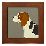 Beagle Profile Framed Tile
