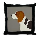 Beagle Profile Throw Pillow