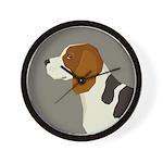 Beagle Profile Wall Clock