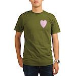 Pink Heart Organic Men's T-Shirt (dark)