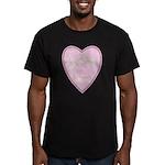 Pink Heart Men's Fitted T-Shirt (dark)