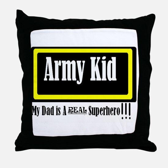 Army Kid Throw Pillow