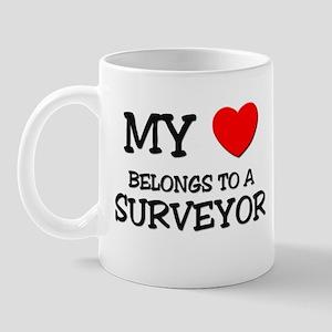 My Heart Belongs To A SURVEYOR Mug