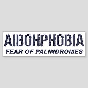 AIBOHPHOBIA Bumper Sticker
