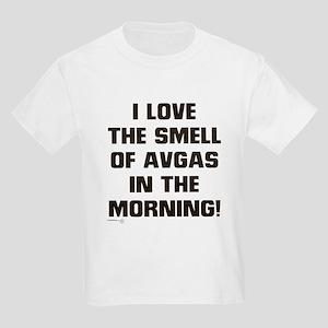 LOVE THE SMELL OF AV GAS IN T Kids Light T-Shirt