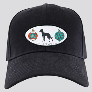 Happy Howlidays Black Cap with Patch