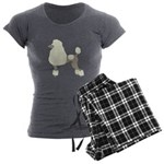 Poodle Cream Women's Charcoal Pajamas