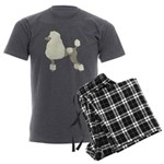 Poodle Cream Men's Charcoal Pajamas
