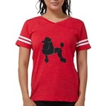 Black Poodle Womens Football Shirt