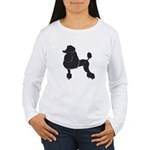 Black Poodle Women's Long Sleeve T-Shirt