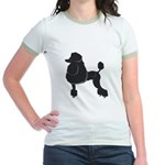 Black Poodle Jr. Ringer T-Shirt