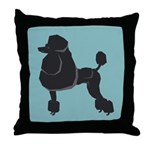 Black Poodle Throw Pillow