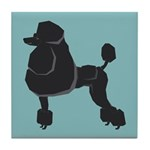 Black Poodle Tile Coaster