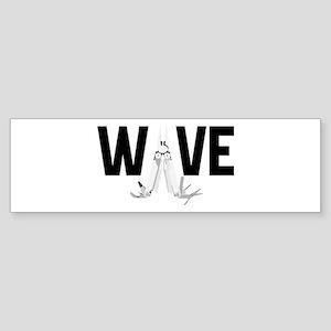 BadgeWork Multitool Wave Bumper Sticker