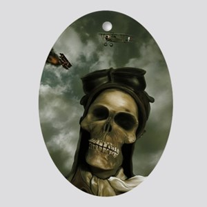Death From the Skies Oval Ornament