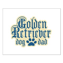 Golden Retriever Dad Posters