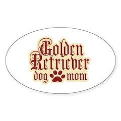 Golden Retriever Mom Sticker (Oval 10 pk)