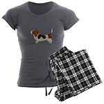 Bassett Hound Women's Charcoal Pajamas