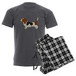 Bassett Hound Men's Charcoal Pajamas