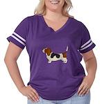 Bassett Hound Women's Plus Size Football T-Shirt