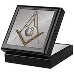 Masonic Steel and wood Keepsake Box