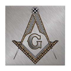 Masonic Steel and wood Tile Coaster